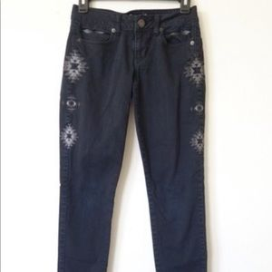 AEO Black Southwest Embroidered Jeans
